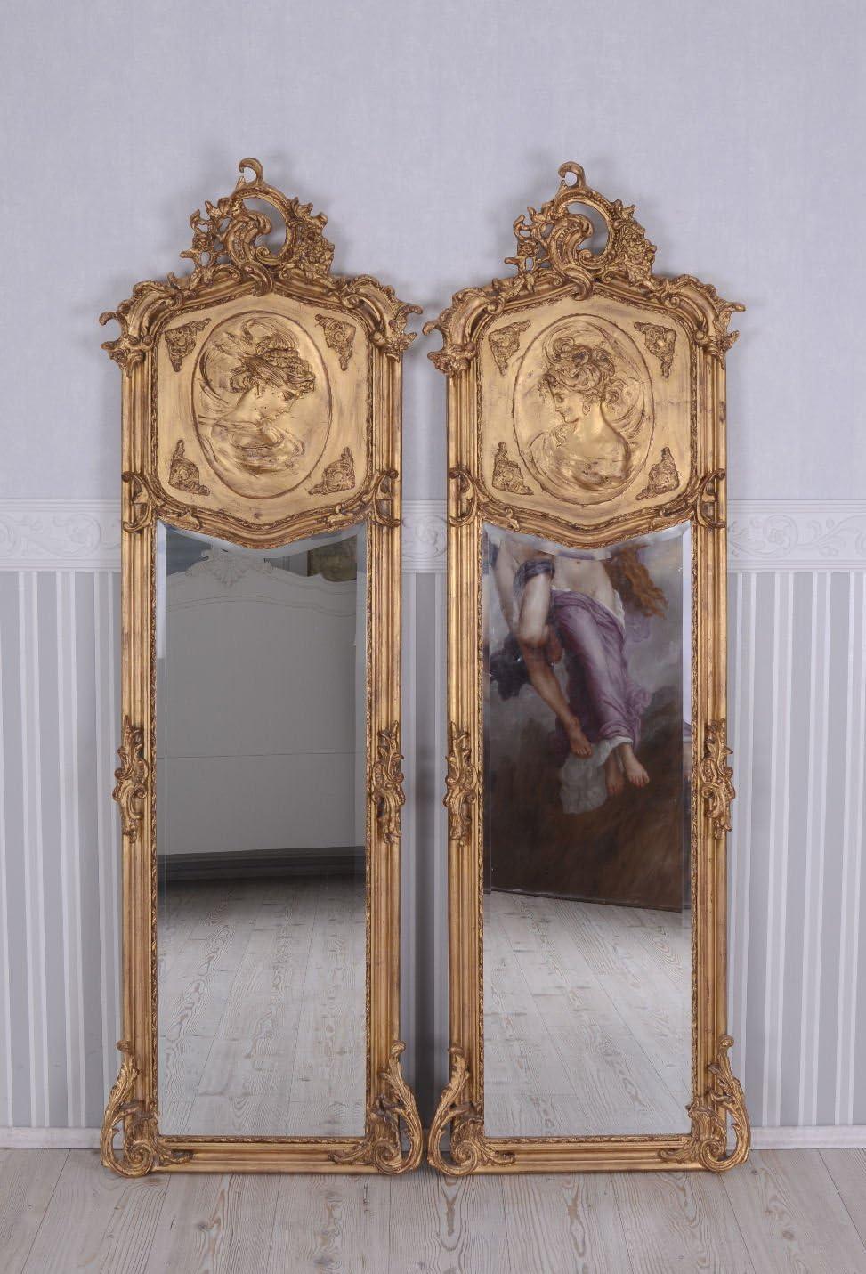 Palazzo Int Zwei Wandspiegel Set 2 Barock Spiegel Gold Frauenbüsten Re Li Ankleidespiegel Garderobenspiegel Rokoko Küche Haushalt
