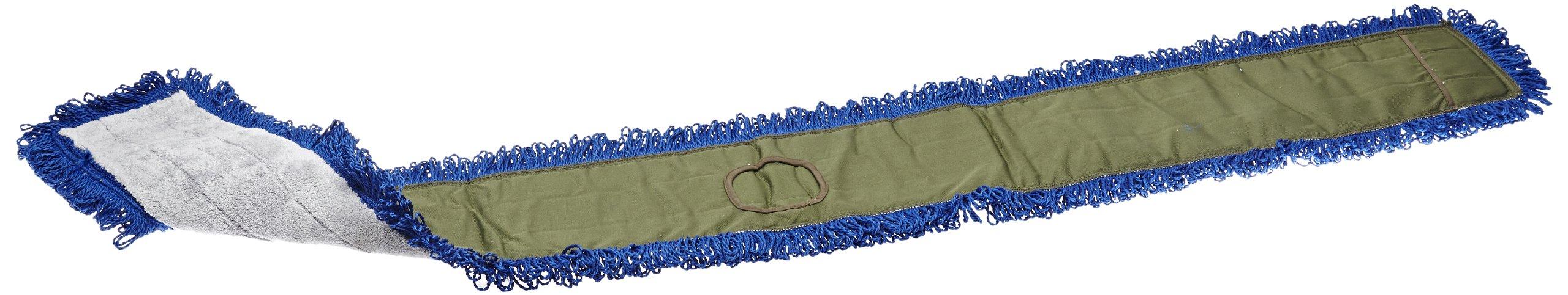 Impact LFCB72 Fringe Dry/Dust Mop Microfiber Pad, Canvas Back, 72'' Length, Gray/Gray (2 Bags of 12)