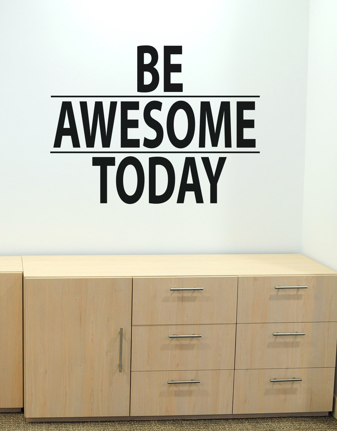 Stickerbrand Be Awesome Today Motivational Quote Vinyl Wall Decal Sticker by 30in X 40in - Easy to Apply/Removable. Made in the USA. #6013m Black color