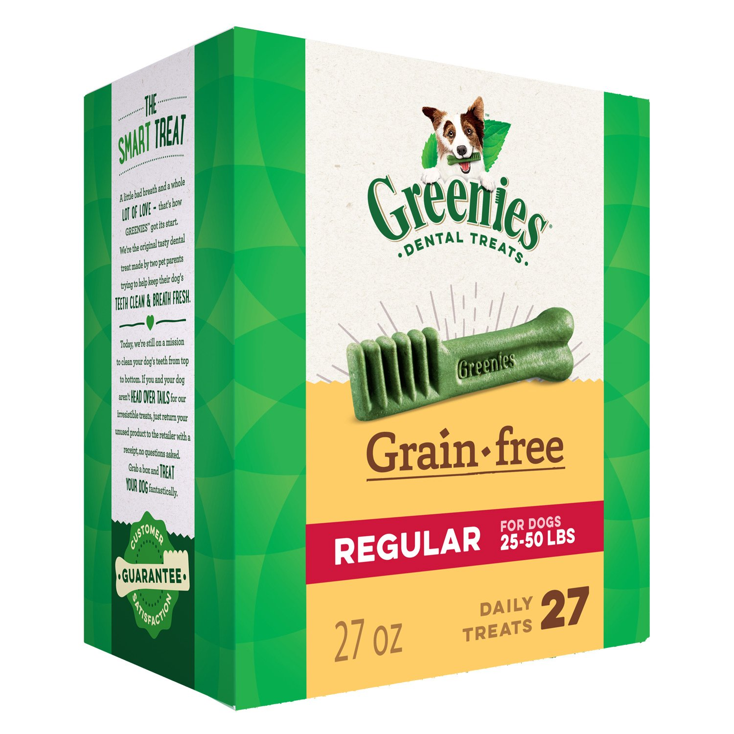 Greenies Grain Free Regular Size Dental Dog Treats, 27 oz. Pack (27 Treats) by Greenies