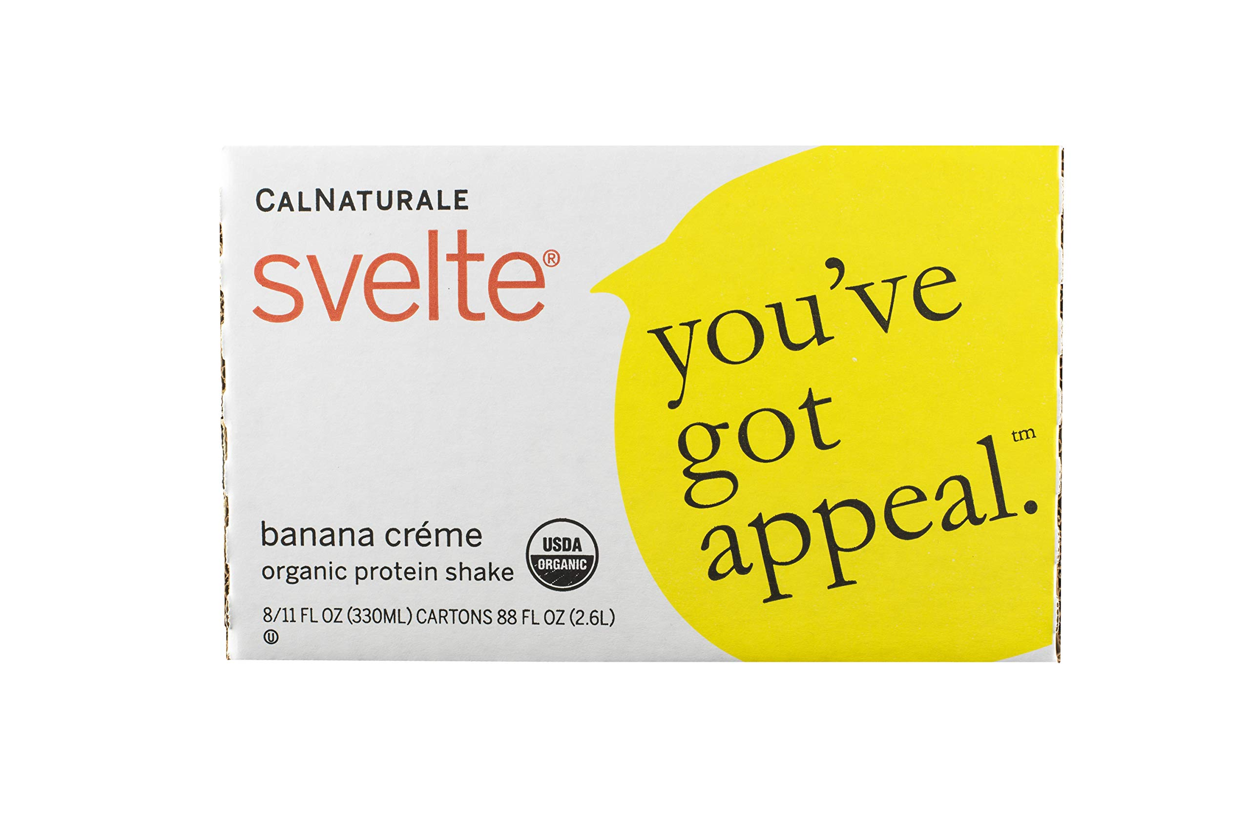 Svelte Organic Protein Shake, Banana Creme, 11 Ounce (Pack of 8) by Svelte