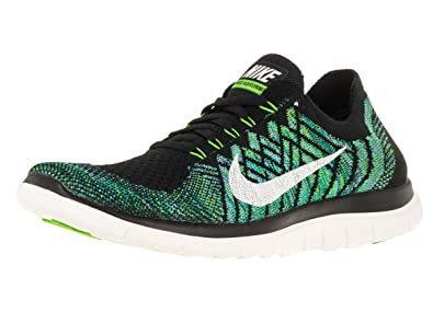 new concept 246ea 063b6 Nike Free 4.0 Flyknit Women s Running Shoes, 7, Black sail vltg Green