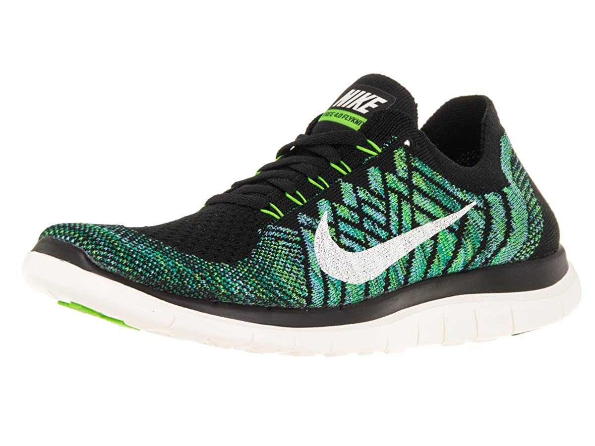 finest selection b9d5c a2176 Amazon.com   Nike Free 4.0 Flyknit Women s Running Shoes, 7,  Black sail vltg Green lcky Grn   Road Running