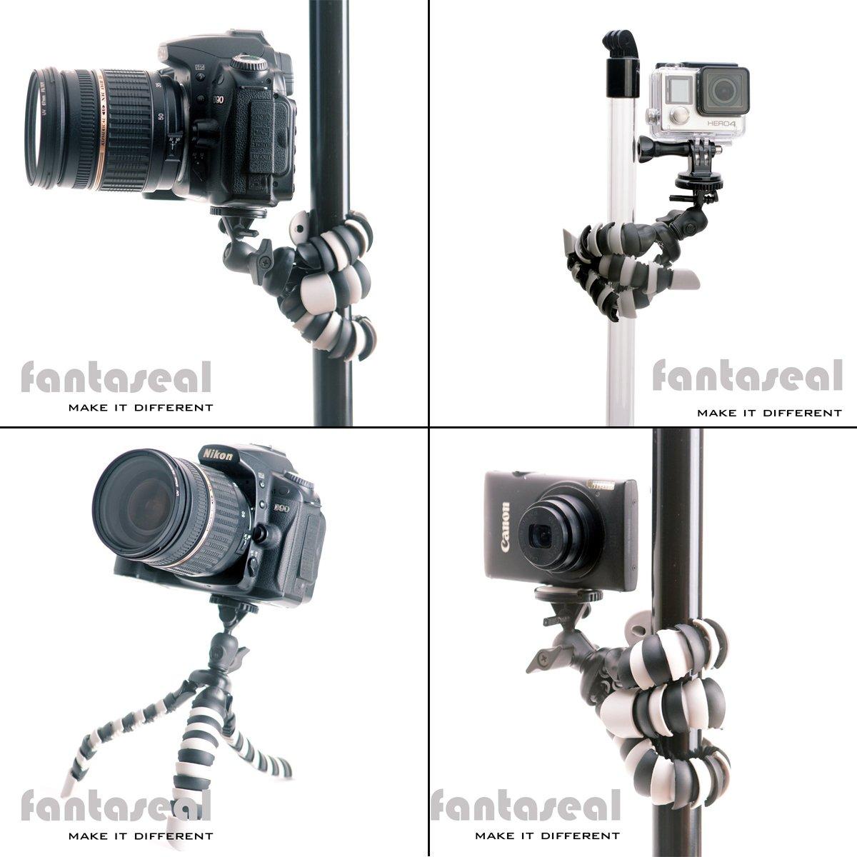 Pentax Sony m/&aacut Nikon Fantaseal/® Tr/ípode de C/ámara 2-en-1 Mini tr/ípode de Tel/éfono M/óviles y C/ámaras Tr/ípode de Mesa con Clip de tel/éfono para iPhone Samsung HTC LG Huawei XiaoMi Canon