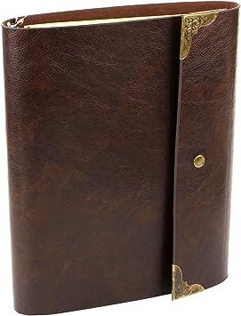 Vintage Lederbuch Notizbuch Tagebuch Leder Heft Reisetagebuch Kladde Notebook DE