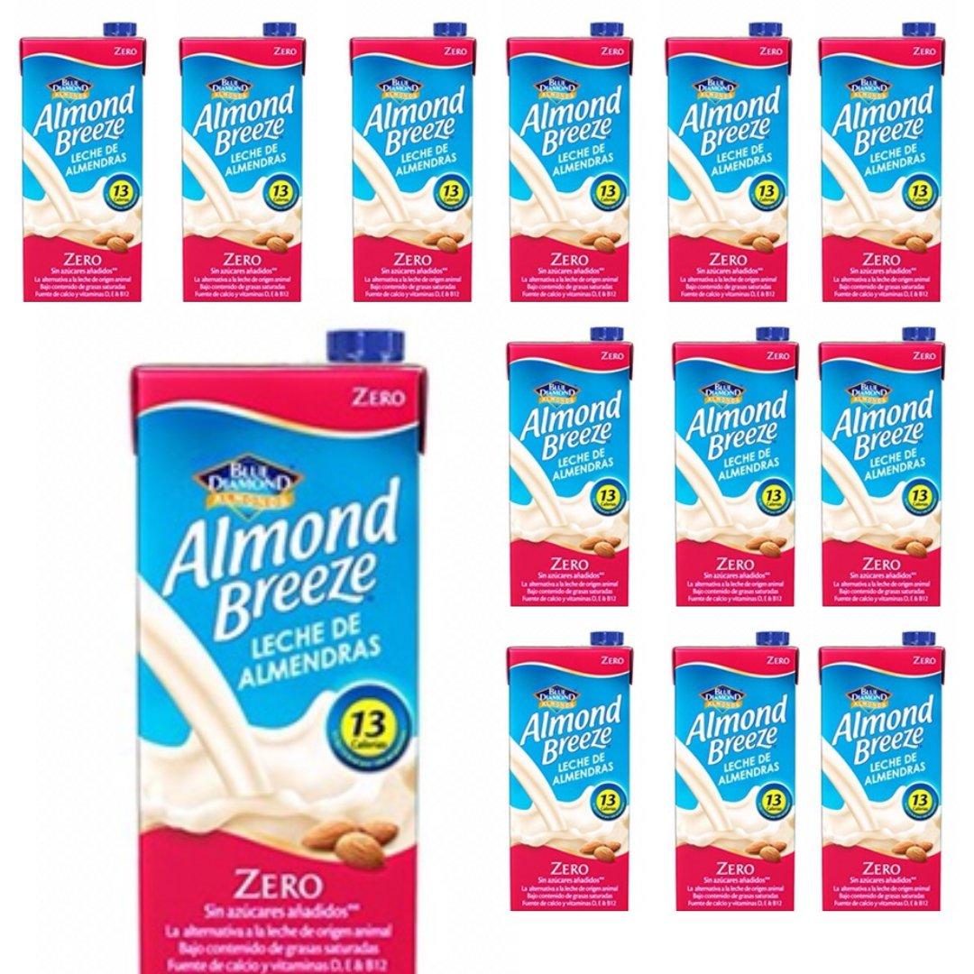 PACK DE 12 ENVÍO URGENTE - Almond Breeze Zero - Leche de Almendras UHT cero azúcar - Pack de 12 Litros - Envío 24/48h incluido en precio: Amazon.es: ...
