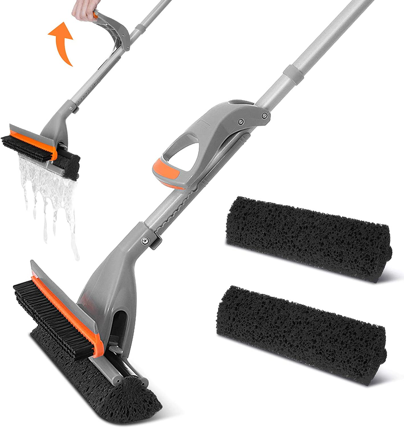 Baban Sponge Mop with Floor Brush and Squeegee, 34.6