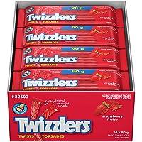 TWIZZLERS Strawberry Twists Licorice Candy Bulk 90g, 24 bags