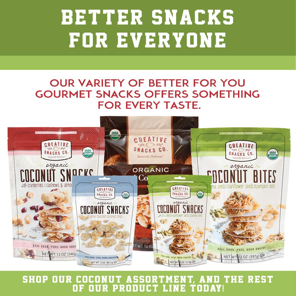 Creative Snacks Naturally Delicious Organic Coconut Snacks with Cranberries and Nuts, 2 Pack, 12 Ounce Resealable Bags by Creative Snacks (Image #5)