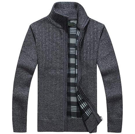 GKKXUE Maglione da uomo in maglia di lana maglione senza