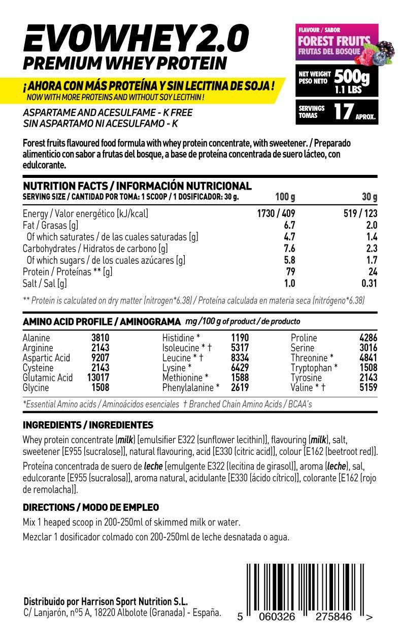 Whey Protein Concentrate (WPC) de HSN Sports - Concentrado de Proteína de Suero Evowhey 2.0 - Sabor Fresa Chocolate Blanco - 2000 gr: Amazon.es: Salud y ...