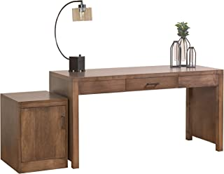 """product image for DutchCrafters Amish Solid Wood 60"""" Office Writing Desk with Rolling Storage Cabinet"""