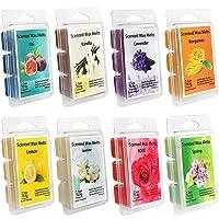 YIHAN Scented Wax Melts -Set of 8 (2.5 oz) Assorted Wax Warmer Cubes/Tarts - Jasmine...