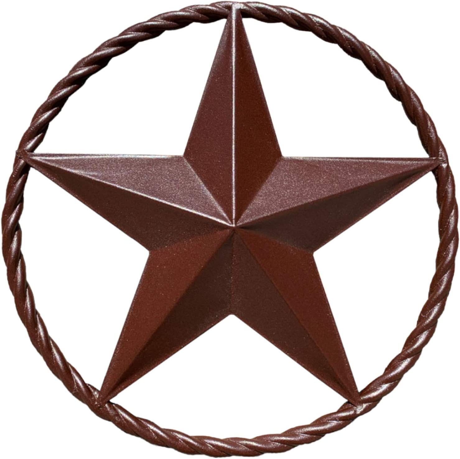 EcoRise Barn Star - Metal Stars for Outside Texas Stars Art Rustic Vintage Western Country Home Farmhouse Wall Decor (12