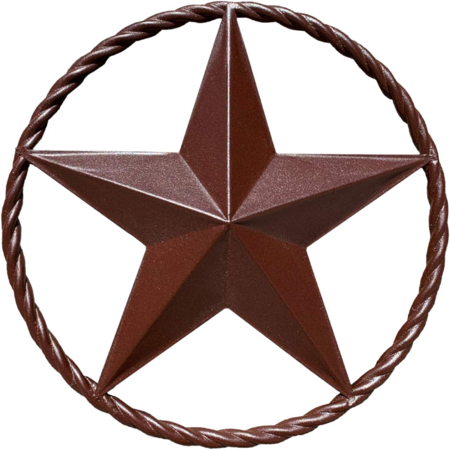 EcoRise Barn Star - Metal Stars for Outside Texas Stars Art Rustic Vintage Western Country Home Farmhouse Wall Decor (12