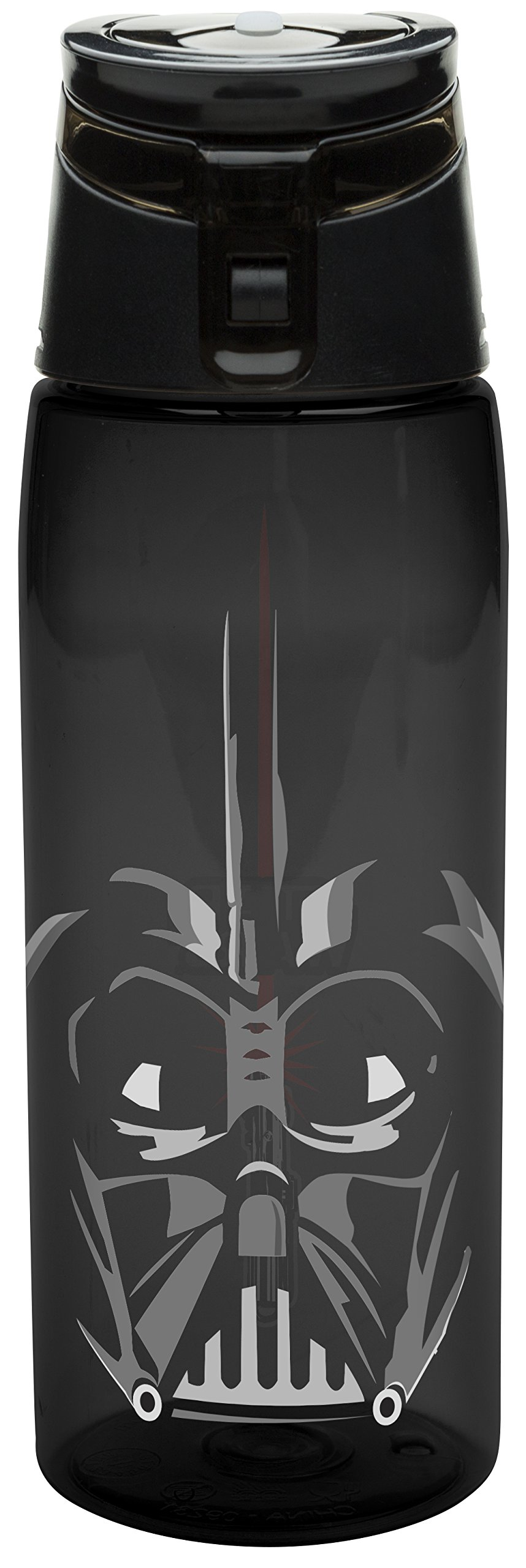 Zak! Designs Tritan Water Bottle with Flip-top Cap with Darth Vader from Star Wars, Break-resistant and BPA-Free Plastic, 25 oz.