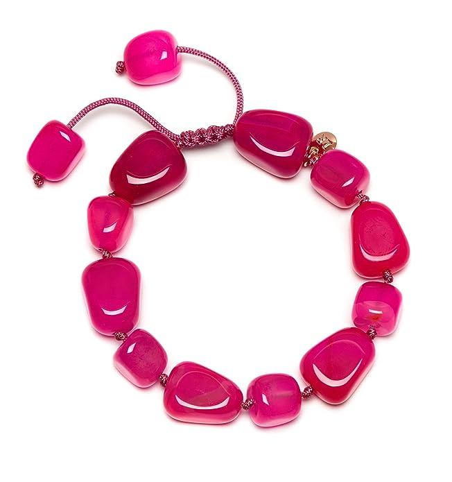 Lola Rose Women Red Coral Agate Strand Bracelet of Length 15cm 695077 dJ2dkRQ6