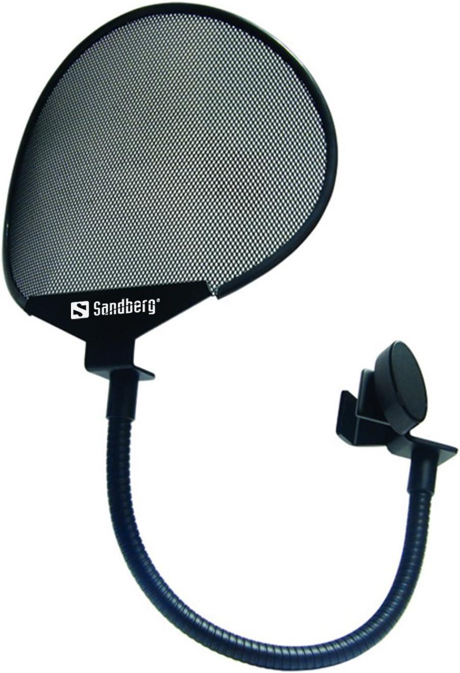 Sandberg 126-04 Popfilter f/ür Microphone schwarz