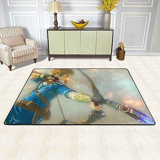 Color Children Skateboard Non-skid Door Bath Mat Home Room Rugs Floor Carpet
