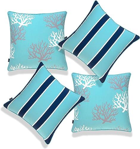 Hofdeco Beach Nautical Indoor Outdoor Pillow Cover ONLY