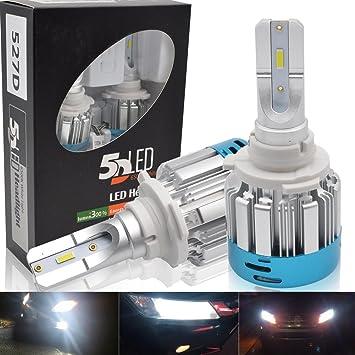 9005 LED Faro Bombillas Kit - Safego 50W HB3 LED LED Chips 4000LM LED Coche Kit de Conversión Reemplazo Para Lámparas Halógenas o Bombillas HID 12V: ...