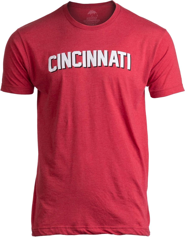 Cincinnati | Classic Retro Black Red Blue Grey Ohio City Pride Newport Fan Men Women T-Shirt
