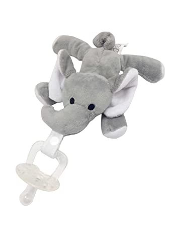 Amazon.com: maawu Baby Pacifier Attached para un elefante de ...