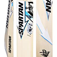 Spartan, Cricket, Grade 3 English Willow Cricket Bat, Blue, Short Handle