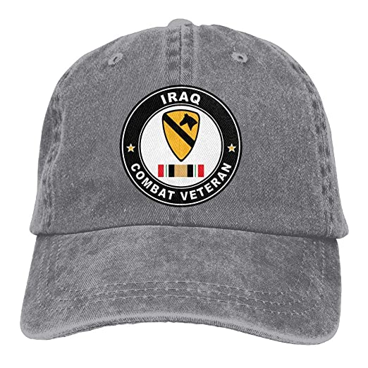 Amazon.com  Madoling 1st Cavalry Division Sticker Iraq Combat Veteran  Trucker s Cap Baseball Cap Denim Dad Hat  Clothing 6f9eb5d3655