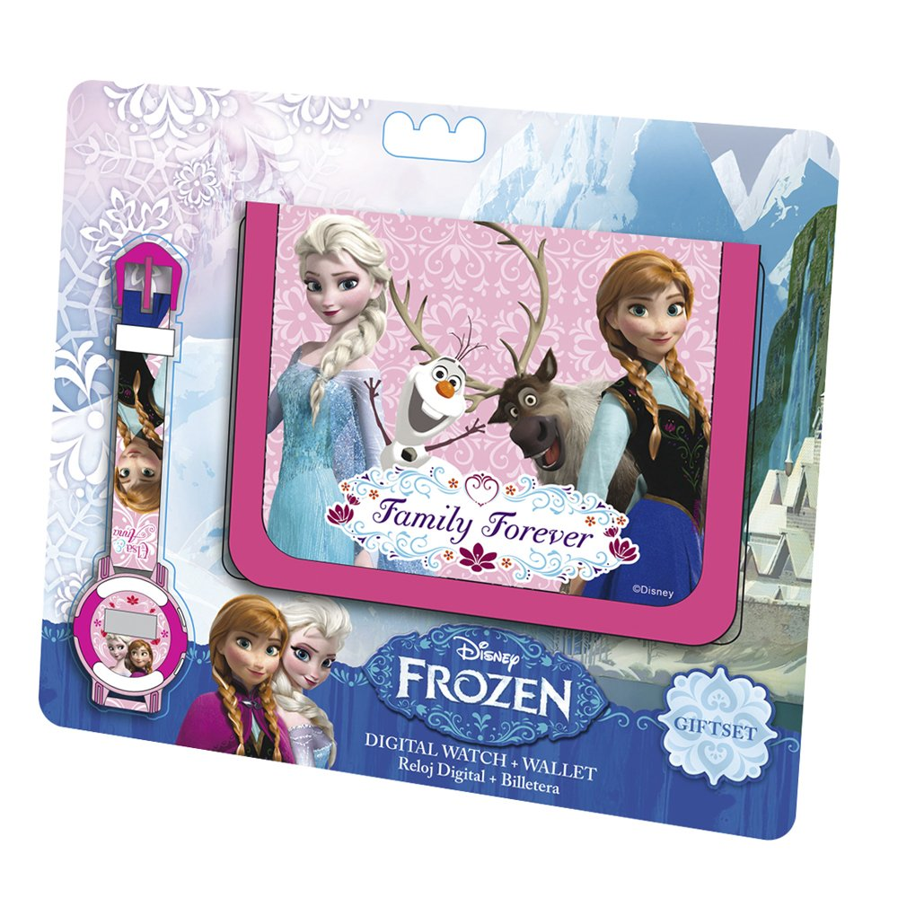 Disney Frozen - Set Regalo Portafoglio + Orologio WD92072
