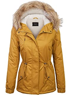 d35a98f4c2e KOGMO Womens Fur Lined Lightweight Zip Up Quilted Jacket with ...
