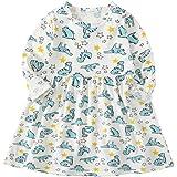 100d9d528c73f vermers Clearance Deals Baby Girls Dinosaur Print Dresses - Infant Kids Casual  Dress Clothes