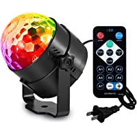 AOMEES 3W Sound Activated Disco Ball Strobe Party Lights