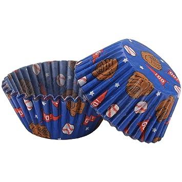 Amazoncom Wilton Baseball Baking Cups Disposable Baking Cups