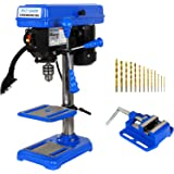 BILT HARD 8 in. Drill Press, 5-Speed Benchtop Drill Press with Worklight, Vise and Drill Bit Set