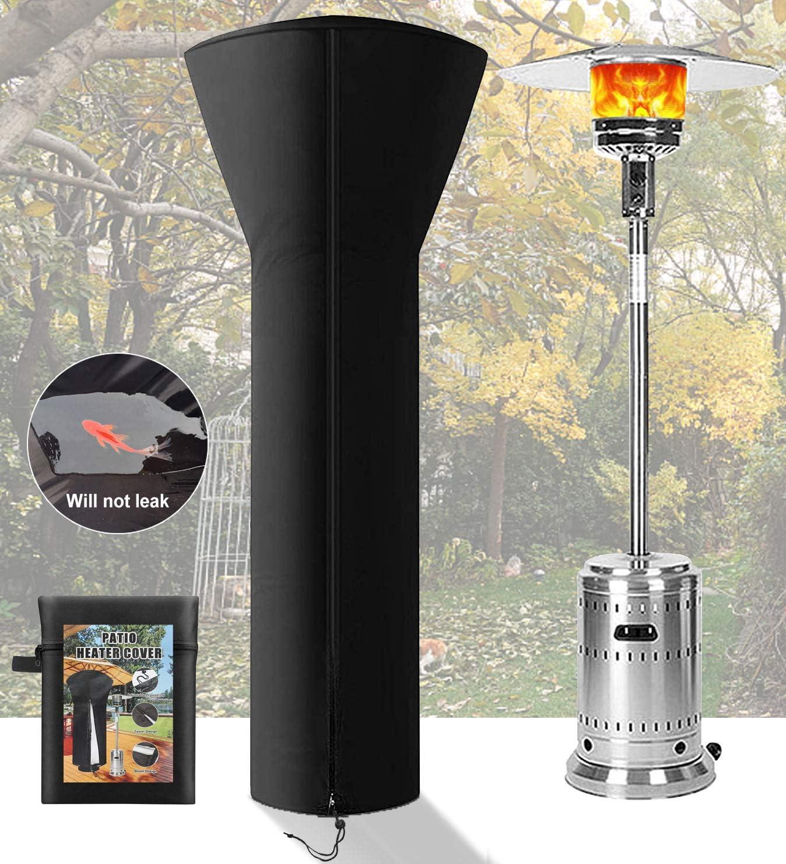 JOCCIK PATIO 히터 커버 방수 지퍼 스탠드업 라운드 아웃도어 히터 커버 420D 옥스포드 패브릭 눈 방지 안티 UV 방진 방풍 24 개월 사용 (H89XD33X19 IN)