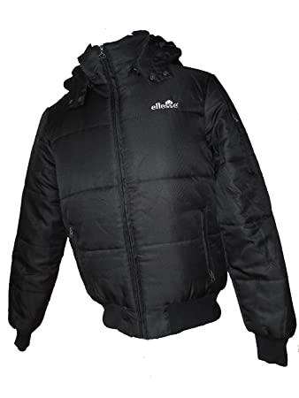 89e8d69d0 New Juniors Boys Ellesse Black Trivento Padded Puffa Hooded Jacket ...