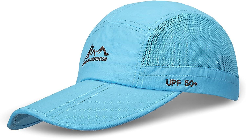 WINCAN Summer Baseball Cap with Bill Quick Dry Mesh Back UPF50 Portable Sun Hats