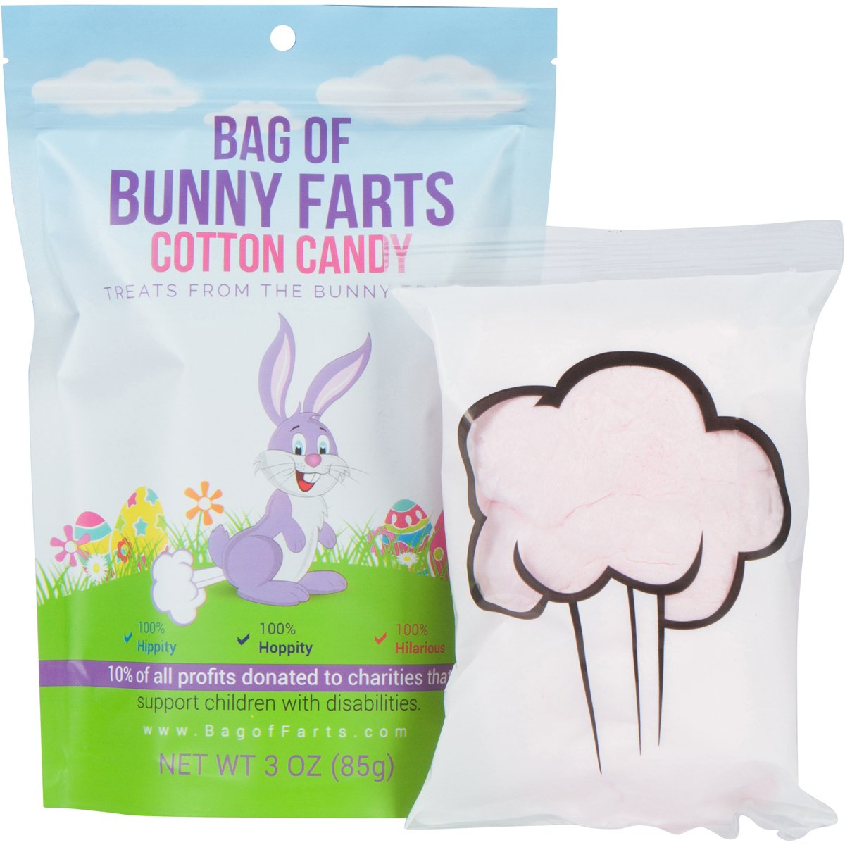Amazon classic easter gift basket pink premade and bag of farts cotton candy funny for all ages unique birthday gag gift for friends negle Choice Image