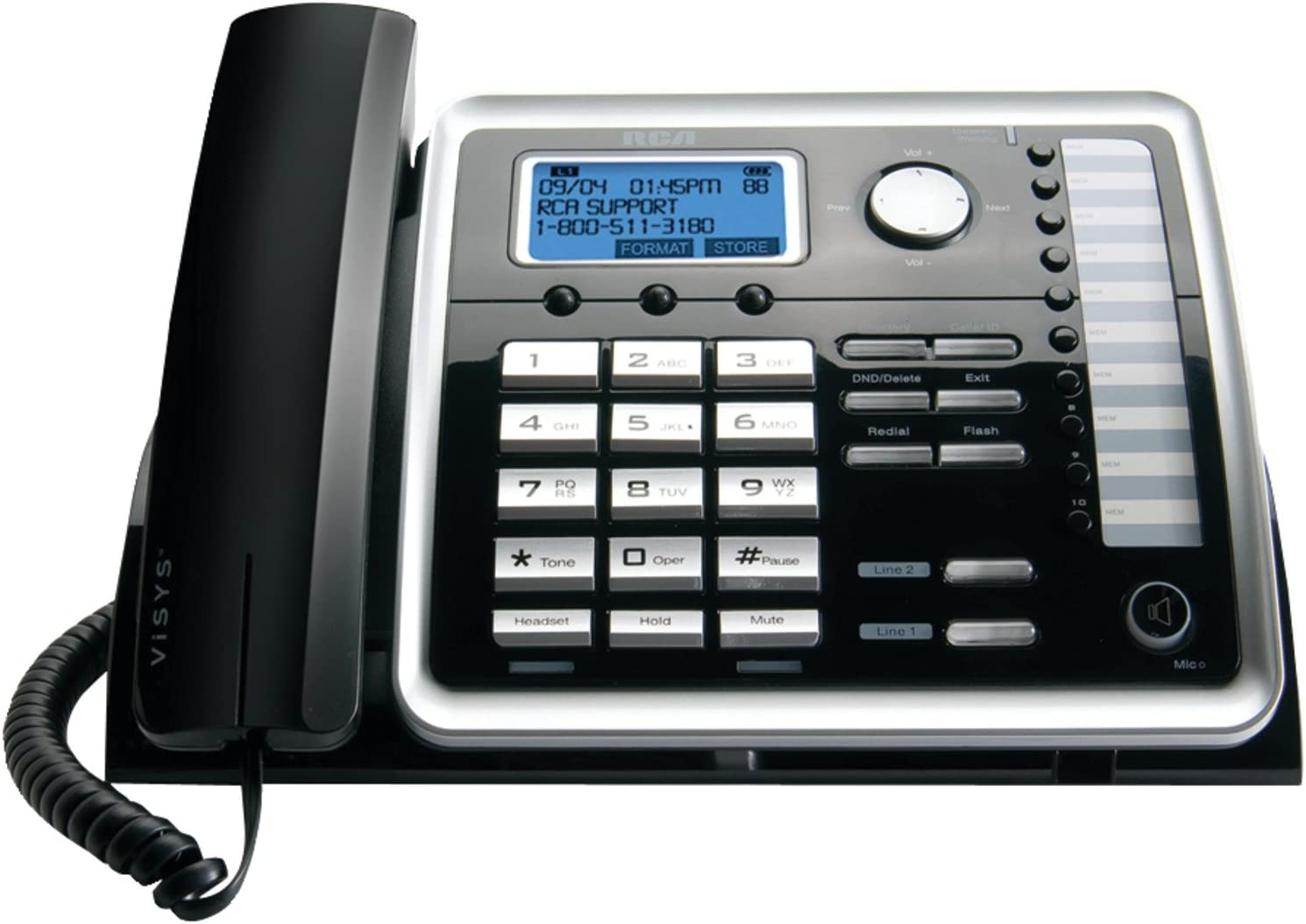 RCA 25214 na 1-Handset 2-Line Landline Telephone : Adaptive Living Telephones : Electronics