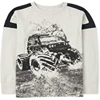 The Children's Place Boys' Long Sleeve Graphic Shirt