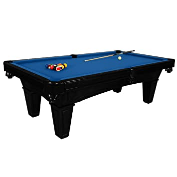Harvil Toscana Onyx Slate Pool Table 8 Foot With Blue Felt. Includes On
