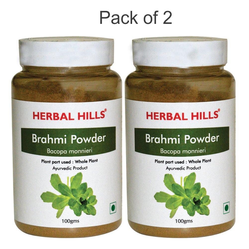 Herbal Hills Brahmi Powder - 100g Each (Pack of 2)