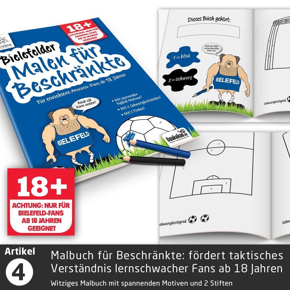 M/änner statt Pantoffel 5X /Überraschungen mit Spa/ßgarantie f/ür Bielefeld Fans Geschenk-Idee: Das gro/ße Saison-Notfall-Set f/ür Bielefeld-Fans Geschenke /& Fanartikel f Hausschuhe