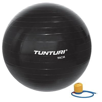 Tunturi 14TUSFU286 Ballon de Gym Mixte Enfant, Noir, Taille Unique