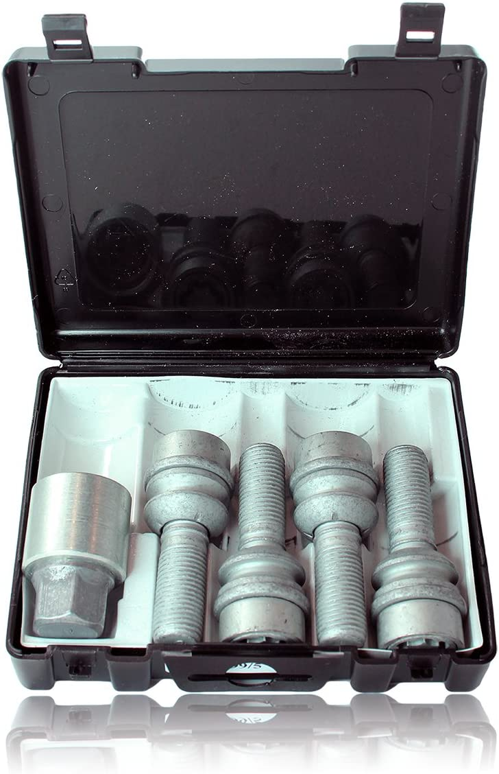 Aaudi Q7 Models Heyner Germany Stil Block PRO Locking Wheel Nuts Removal Key M14x1.5 Set 4 Locks Thatcham Quality Assured Bolts 299//5