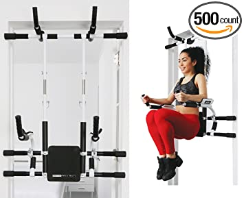 Amazon.com : FITNATURAL Doorway Fitness Tower: Adjustable N Portable Multi  Functional Pull Up Bar Dip Station/All In 1 : Sports U0026 Outdoors