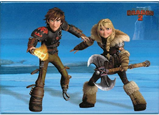 Amazon Com Animewild How To Train Your Dragon 2 Astrid And Hiccup Magnet Kitchen Dining