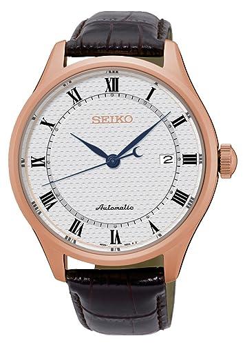 Seiko Reloj Analógico para Hombre de Automático con Correa en Cuero SRP772K1: Amazon.es: Relojes