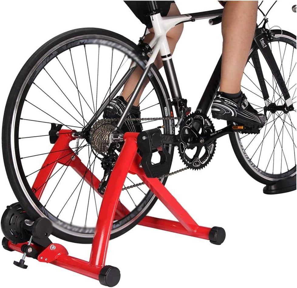 Magnética Turbo Trainer -Indoor Bike Trainer magnética Cycling Trainer - 6 Nivel de Velocidad de Alambre control del ajustador de bicicletas Turbo Trainer - para bicicletas carretera y montaña,A: Amazon.es: Deportes y
